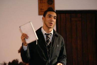 Keiran preaces at Chalford 2009