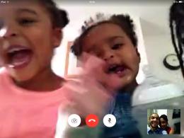 Skype the girls back home